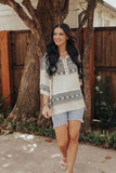 Aztec Knit Blouse