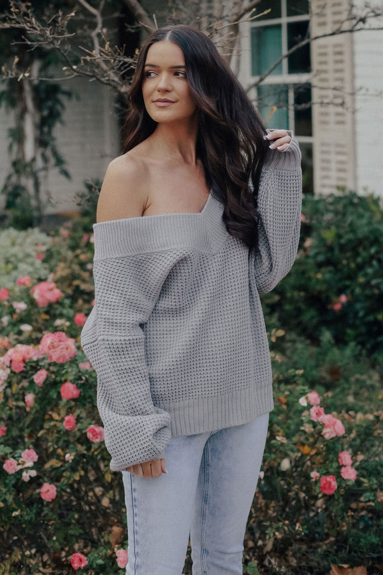 Love Me Forever Sweater (GRAY)