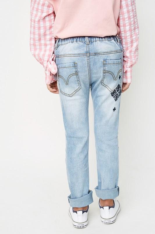 Distressed Side Stripe Jeans - Grey Suede