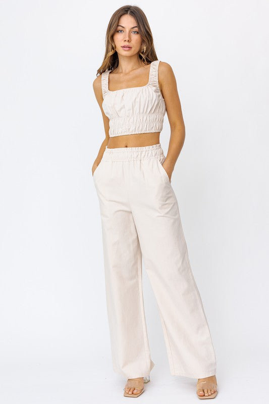 Hailey Beige Set  - Pants