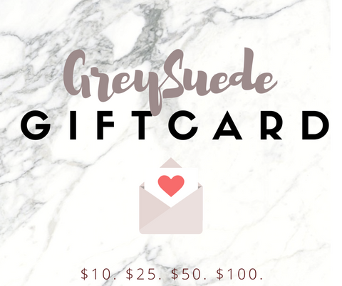 GIFT CARD - Grey Suede