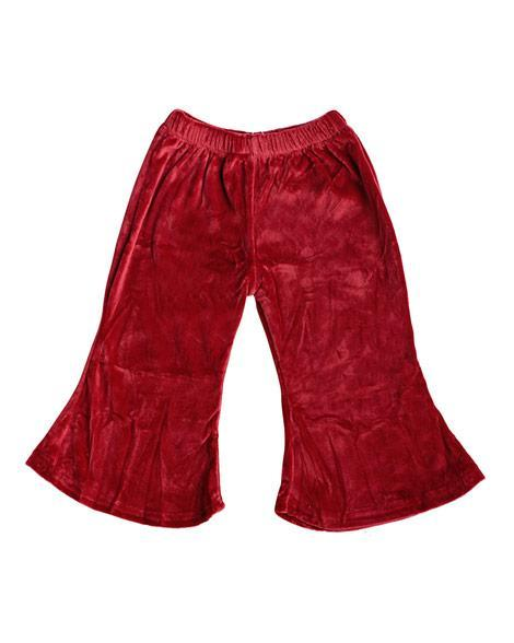 Velour Boho Bell Bottoms - Wine