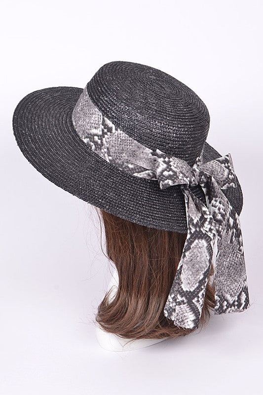 Snake Wrap Hat (BLACK)