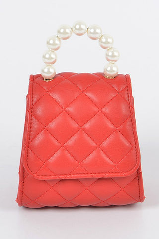 Quilted Mini Clutch (Red)