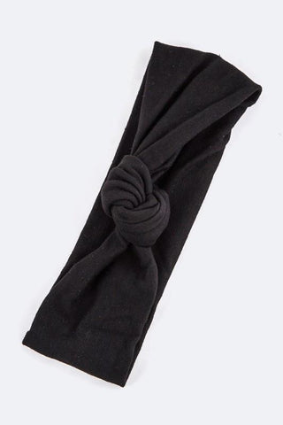Twist Knot Headband (Black or Ivory)