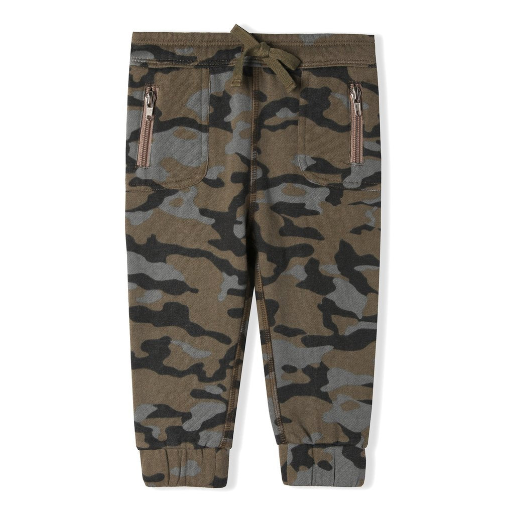 Army Grand Jogger - Grey Suede
