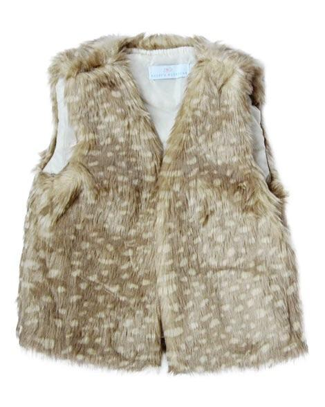 Darling Doe Fur Vest - Grey Suede