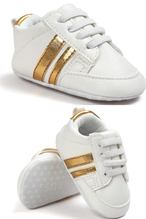 Step Up Sneaker - GOLD STRIPE