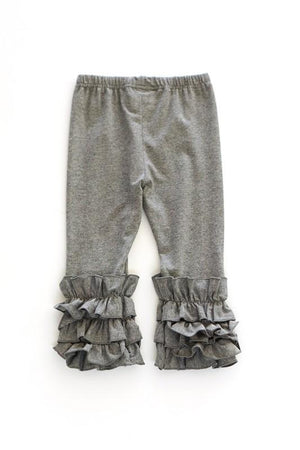 Ruffle Stretch Pants (Gray)
