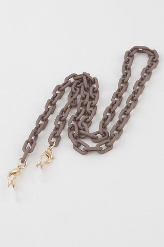 Matte Linked Mask Chain (Khaki)