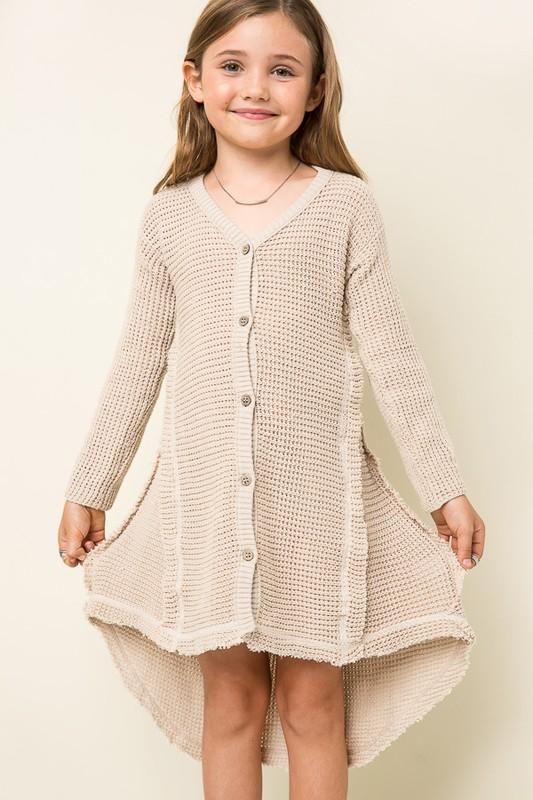Oversized Knit Cardigan Dress