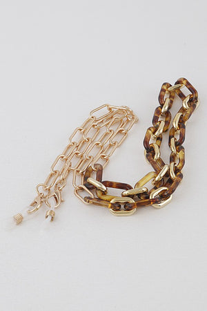 Leo Linked Gold Mask Chain