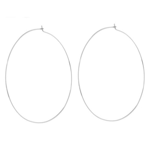 XL CAPRI WIRE HOOPS - SILVER