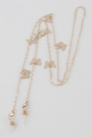 Butterfly Pendant Gold Mask Chain