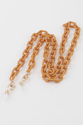 Matte Linked Mask Chain (Mustard)