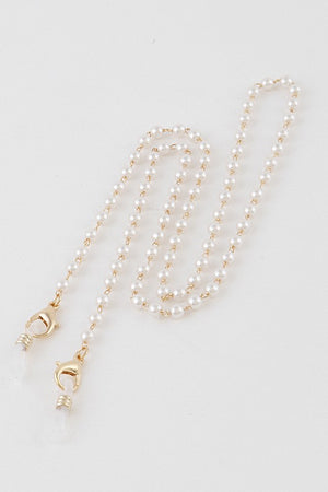 Pearls and Gold Mask Chain