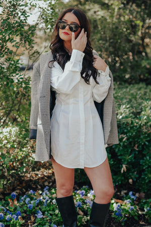 The Perfect Layering Dress (WHITE)