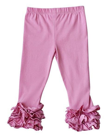 Ruffle Stretch Pants (Pink)