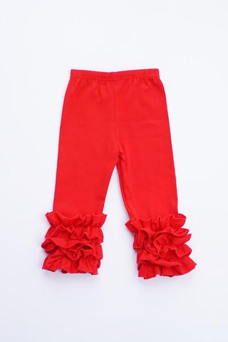 Ruffle Stretch Pants (RED)