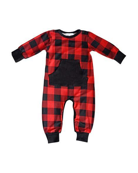 Red & Black Plaid Jumpsuit Romper