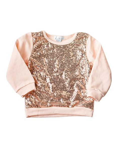 Sequin Sweater - Rose Gold