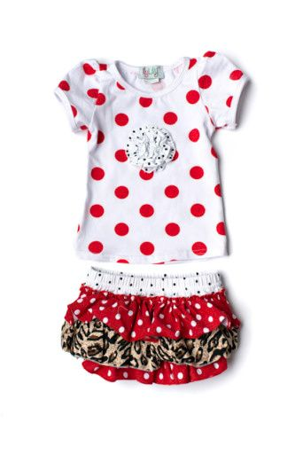 Red Dot Bloomer Set