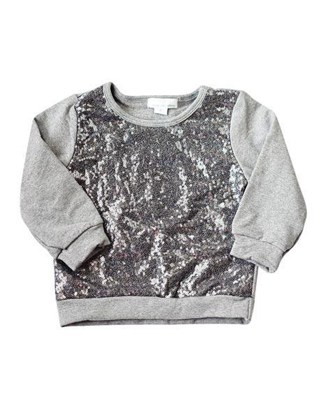 Sequin Sweater - Gray