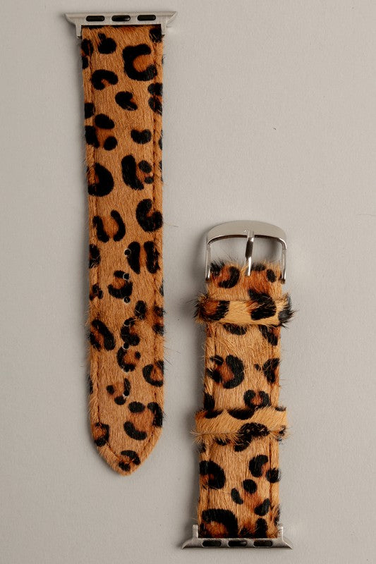 Leopard Apple Watch Band (Brown)