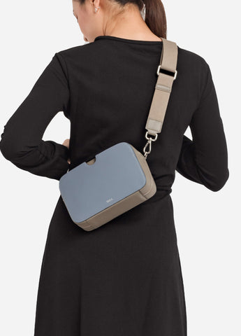 VERA A BLOCK with Canvas Strap in Boxy Blue
