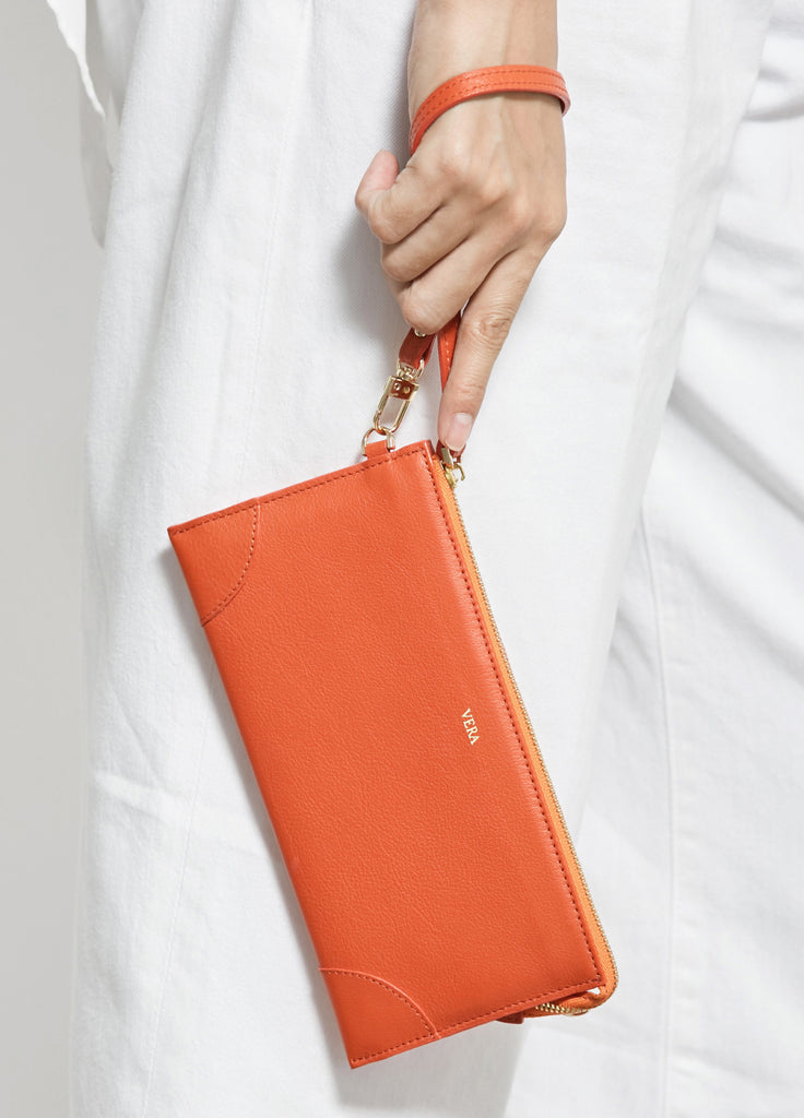 VERA BEST MILLIE WALLET in Mandarin Orange