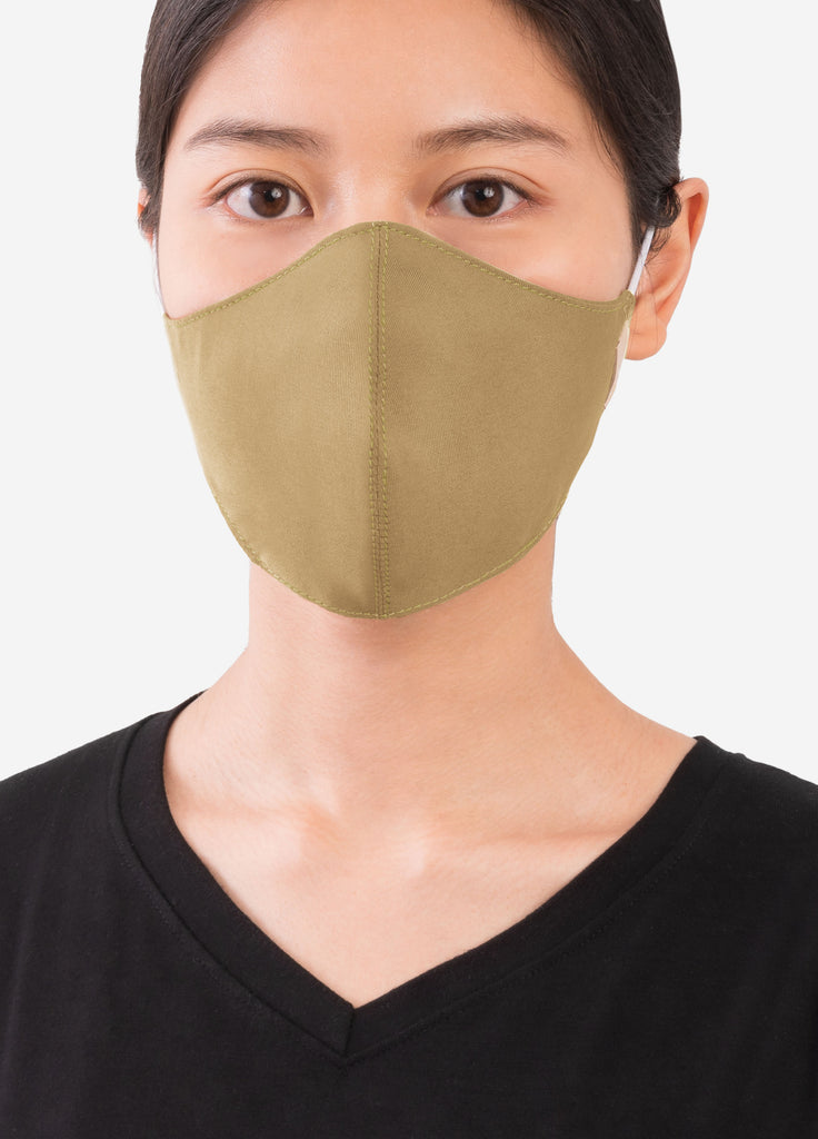 VERA FABRIC MASK in Olive Green- Yellow (พร้อมส่ง 24 มิ.ย)