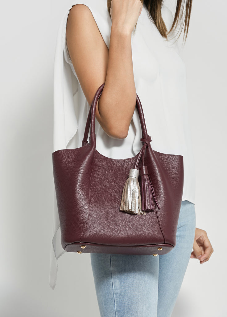 VERA NICOLE with Tassel in Red Wine