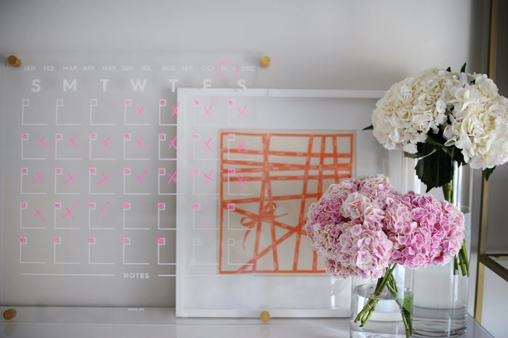 Haute Co. Lucite Wall Calendar Desk Accessories