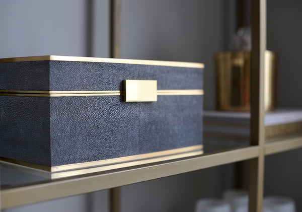 Haute Co. Shagreen & Brass Box