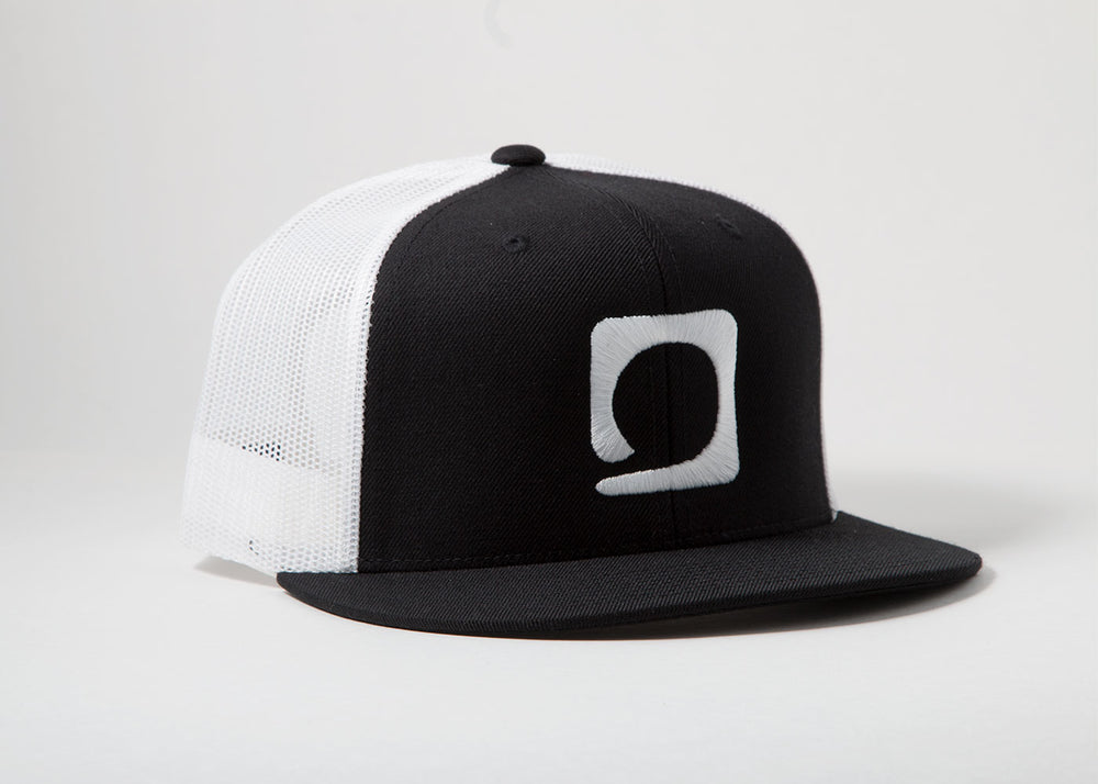 Squared Circle 'White Icon' Mesh/Snapback Hat