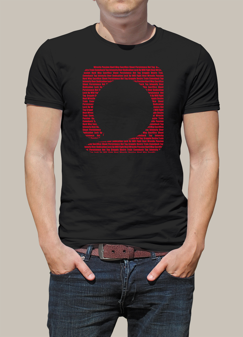 Squared Circle Black Icon T-Shirt