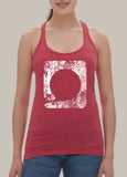 Squared Circle Women's Racerback Heathered Tank Top