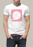 Squared Circle White Icon T-Shirt