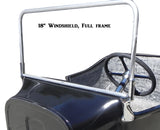 "61018P T-Windshield Frame, Polished, Full Frame, 18"" height, 40 1/8"" wide"