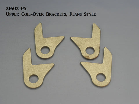 21602-PS T-Upper Coil Over Shock Frame Brackets, Single Hole (Plans set style)