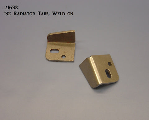 21632 '32 Radiator Mounting Brackets, (Weld-on)