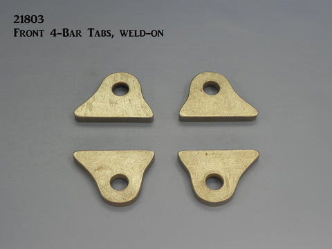 21803 Front 4-Bar Tabs, weld-on