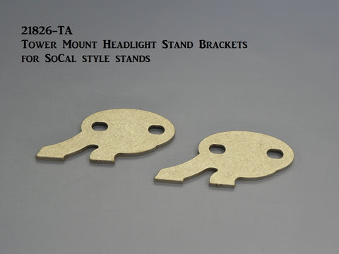 21826-TA Tower Mount Headlight Stand Brackets for So Cal style stands, Weld-on