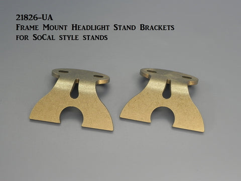 21826-UA  Headlight Stand Brackets for So Cal style stands, Weld-on
