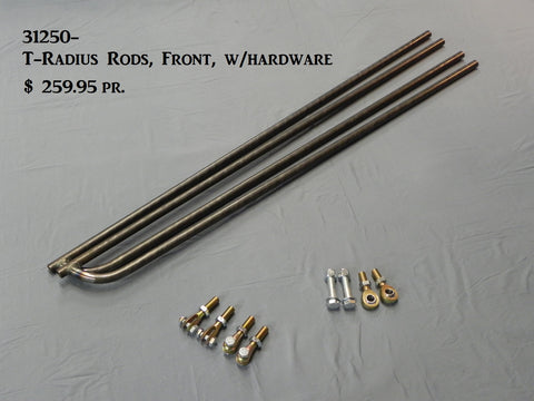 "31250 T-Radius Rods, Front, 51"" bars w/Ends and Hardware"