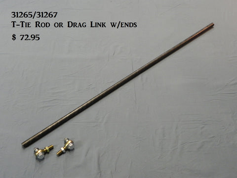 "31265 T-Tie Rod, 44.5"" bar (standard & long body) w/ 5/8""-18 spherical ends"