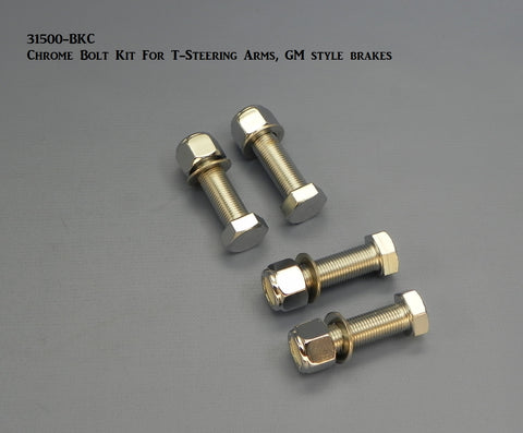 31500-BKC Bolt Kit, Chrome, for Steering Arms, GM style Brakes