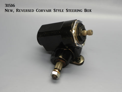 31516  New, Reversed Corvair Style Steering Box, Universal