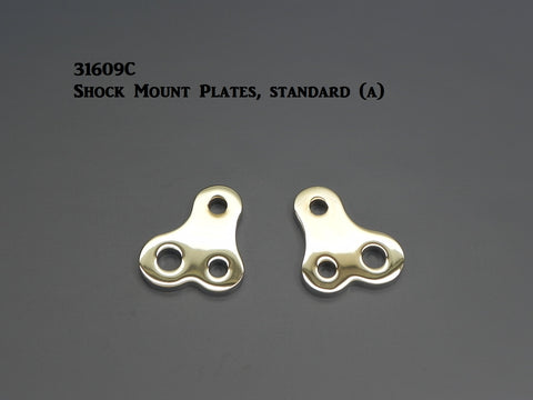 31609C T-Shock Mount Plates, Chrome, Offset style
