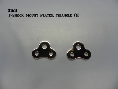 31611C T-Shock Mount Plates, Chrome, Triangle style